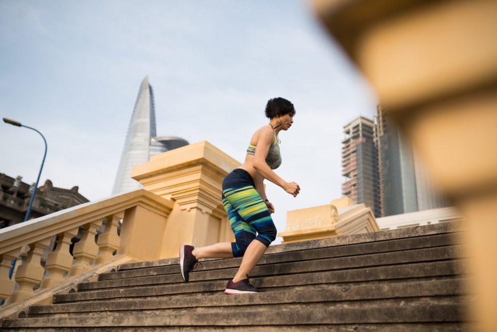 Jogging young woman